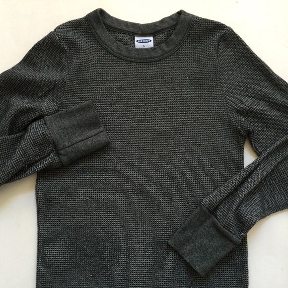 035e9ff11acc Old Navy Charcoal Gray Waffle Thermal Ls Top